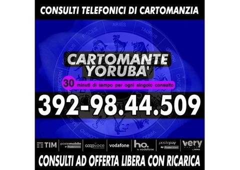 Effettuo consulti con offerta libera: il Cartomante YORUBA'