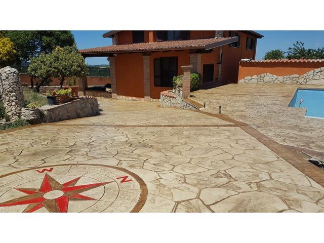 Pavimenti In Cemento Stampato : Pavimenti in cemento stampato roma latina frosinone rieti e