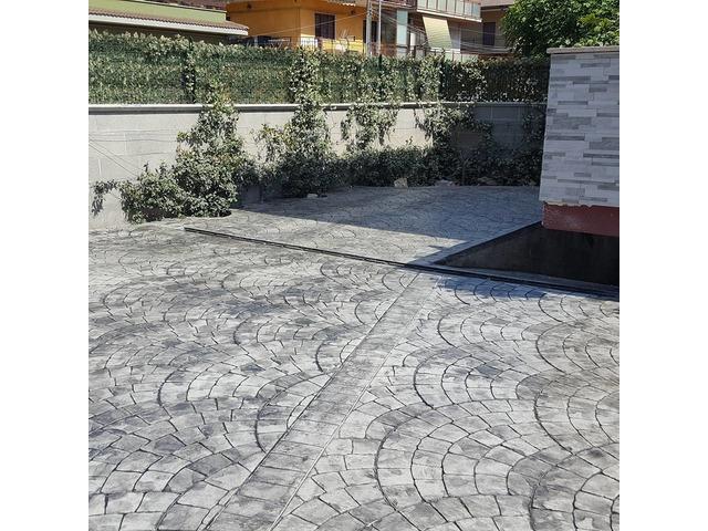 Pavimento Calcestruzzo Stampato : Pavimenti in cemento stampato roma latina frosinone rieti e